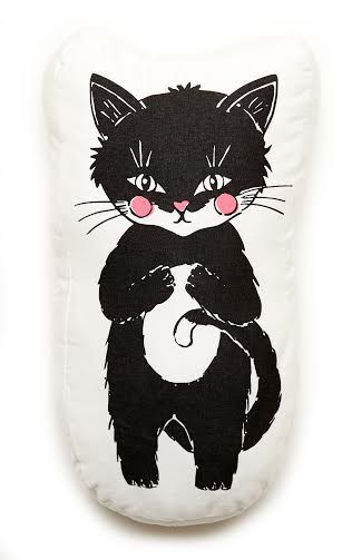 Woodlands Kitty Scatter Cushion Cover   Screen-printed on cotton   2 in stock