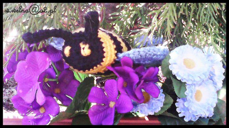 Pszczółka ;)  #Wiosna #pszczoła #handmade #spring #bee #flower