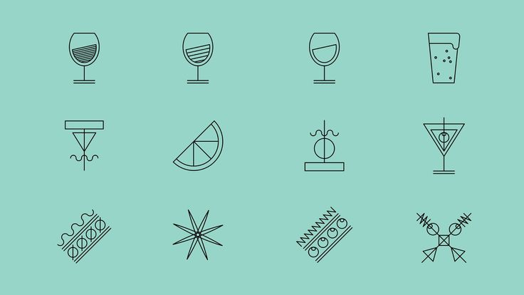 Monolinear icon projects by Toormix.