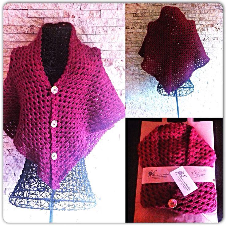 Capa burdeo, crochet II #entrelanaypalillos