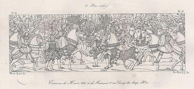 3e bas-relief - entrevue de Henri VIII et de François Ier au Camp du drap d'Or.JPG