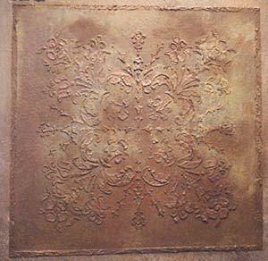 Plaster Stencil 16″ x 16″ Victorian Ceiling Tile | Walls Stencils, Plaster Stencils, Painting Stencils, Plaster Molds