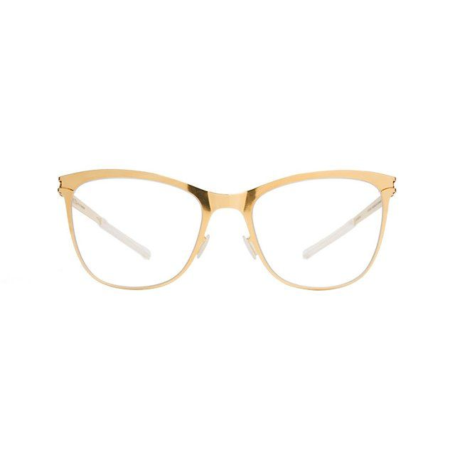 FLORENTINE in Vogue's selection of statements glasses for fall.  https://mykita.com/prescription-glasses/no1/florentine/glossygold-clear