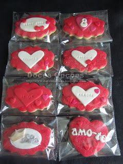 Doces Opções: Love cookies