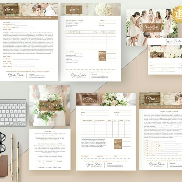 Photography Forms Template Set in Package, AVAILABLE NOW! Check our Etsy store for more info!
