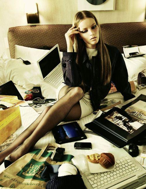 """En Horario de Oficina"" Ieva Laguna photographed by David Dunan #inspiration #blog #blogger #tumblr #fashion #style #models #photography #vogue http://www.midnight-charm.com/"