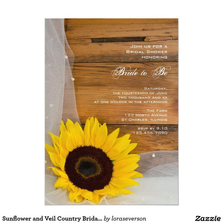 859 best Sunflower Wedding Invitations images on Pinterest