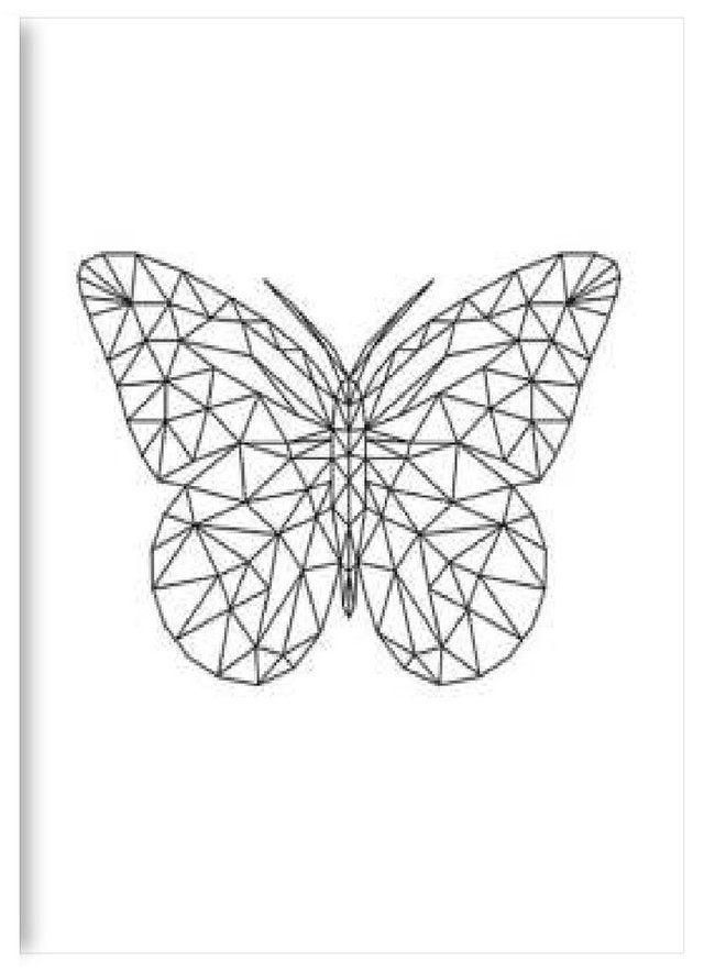 Resultado De Imagen Para Mariposa Geometrica Geometrico Creatividad Cristales