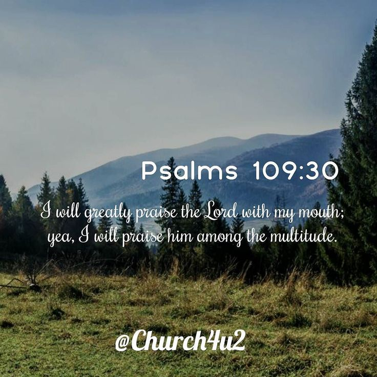 """Psalms 109-30 """"I will greatly praise the Lord with my mouth; yea I will praise him among the multitude."""" #KingJamesVersion #KingJamesBible #KJVBible #KJV #Bible #BibleVerse #BibleVerseImage #BibleVersePic #Verse #BibleVersePicture #Picture #Pic #Image #KJVBibleVerse #DailyBibleVerse"""