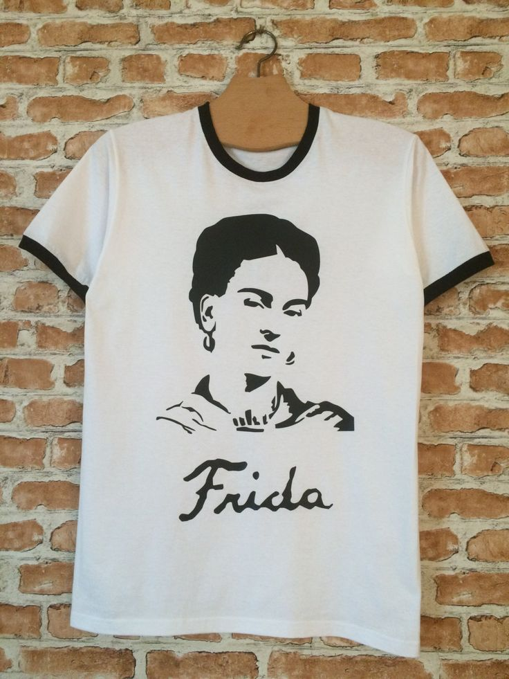 Frida Kahlo ringer t-shirt by BADYOUTHTEES on Etsy