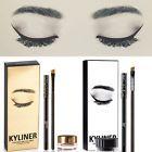 Waterproof Beauty Makeup Cosmetic Kyliner Eyeliner Gel Liner Pen Brush Set Kit