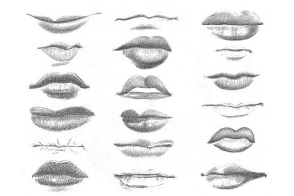 how to draw different lips