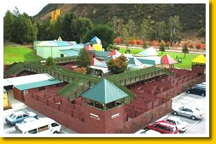 The great wodden maze at Puzzling World Wanaka  #travel #photography #NewZealand #illusion #maze #puzzle #Wanaka