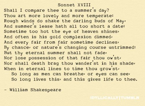 Shakespeares comparison of sonnets 9 and