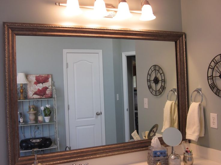 framing existing bathroom mirrors framing an existing bathroom mirror images 18412