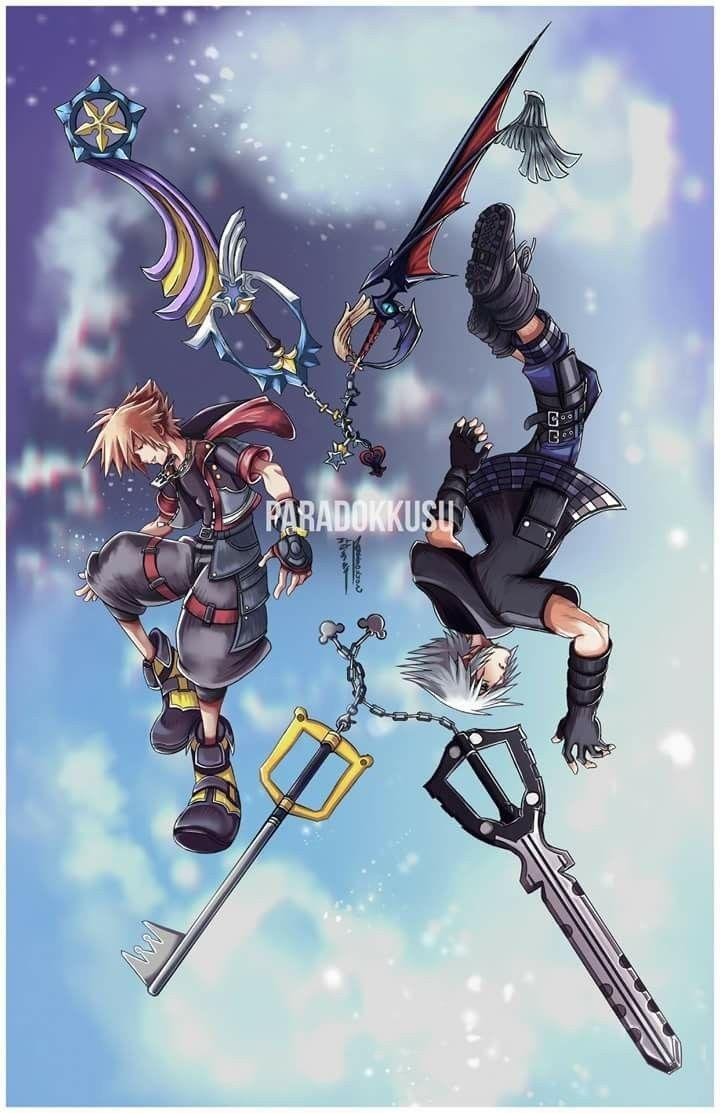 Kh3 Riku And Sora Kingdom Hearts Fanart Kingdom Hearts