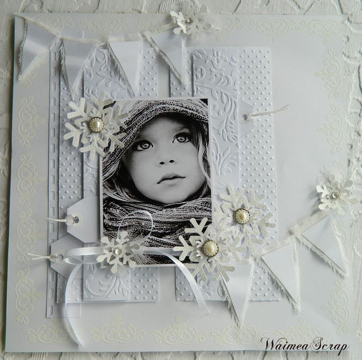 Stunning White on White Page...with black & white photo.