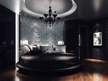 If I could afford to, I would have this be my new room. I love the round bed! They're so expensive though!