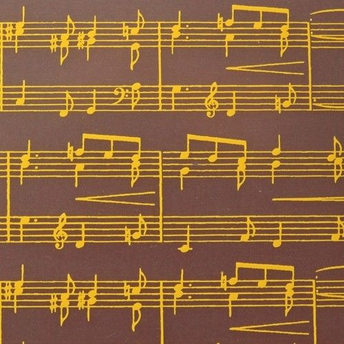 Musical notes gold, chocolate transfer sheets x2 by Chocolate Trading Co