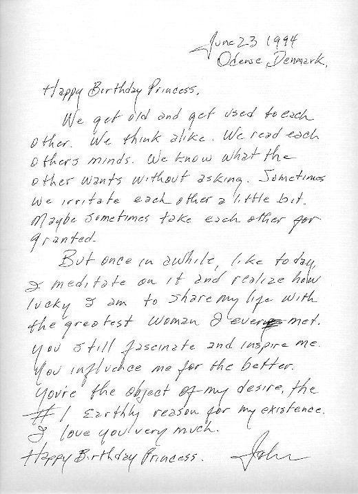Johnny Cash's letter to June Carter