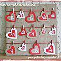 DIY déco Saint Valentin : faire un calendrier compte à rebours - Les p'tites décos de Lolo
