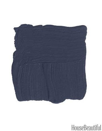 Beautiful shade for a front door.                                  Benjamin Moore Evening Sky 833