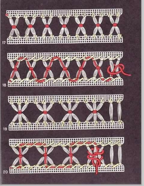 Мережка/ Deshilados/ Maria L.bertolino7 www.pinterest.com...