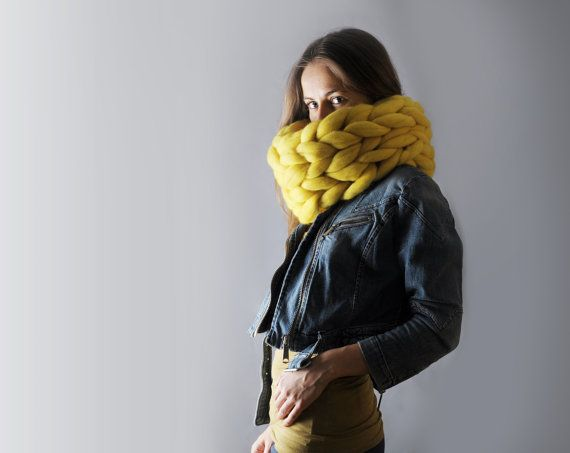 Super Chunky Infinite Scarf Cowl Snood By Ohhio
