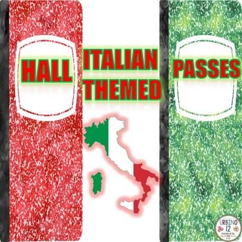 Set of eight hall passes in italiano! Passes read: signori, signorine…