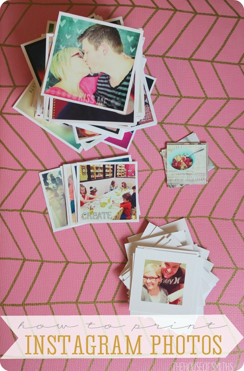 How & Where to Print Instagram Photos, great post about several good ways top get actual photos in hand.