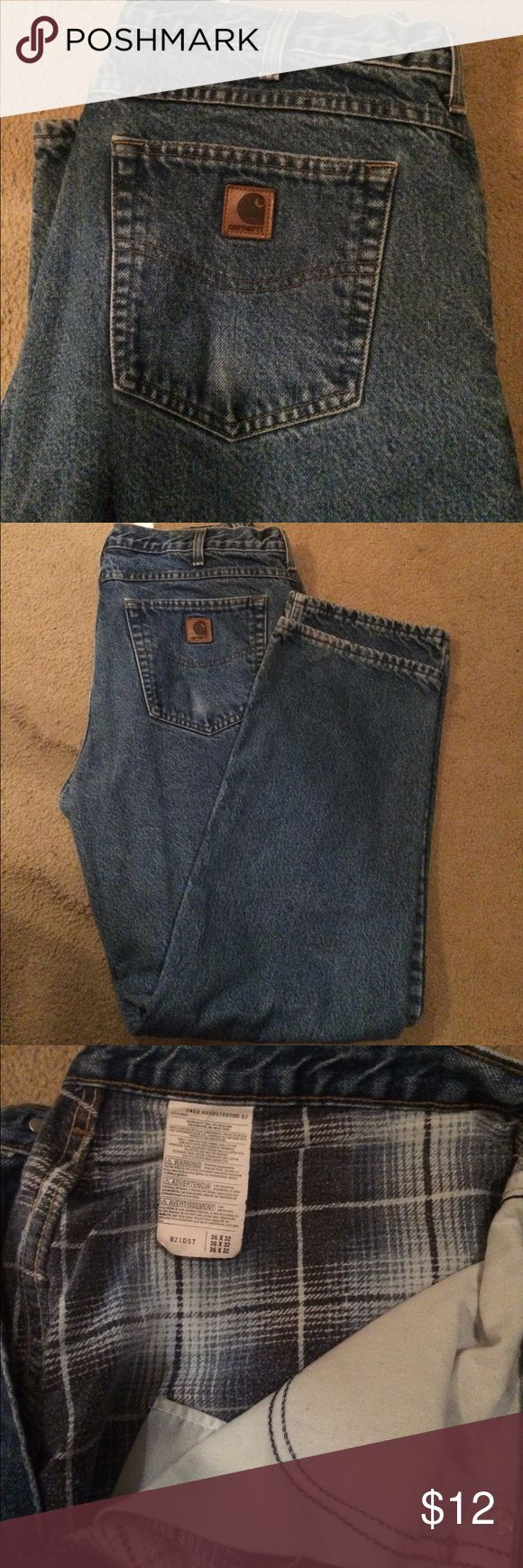 Carhart jeans Gently used lined Carhart jeans 36x32 Jeans Bootcut