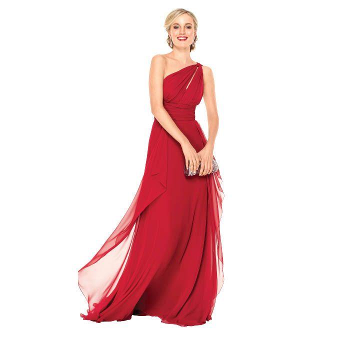 Brides: Noir by Lazaro. Dress, $400, Noir by Lazaro; JLM Couture. Earrings, $150, and clutch, $250,  Jhatak Matak.