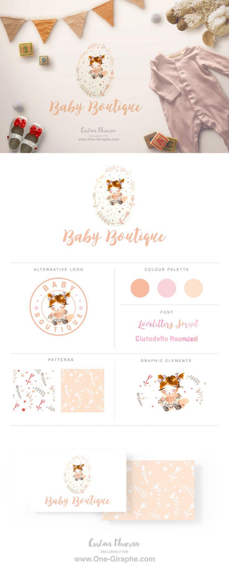 New logo for sale !  Custom Hand Drawn Logo Design in collaboration with artist Cristina Mureșan-Toth  http://www.one-giraphe.com/prev.php?c=193  #logo #baby #logodesign #logos #readymade #etsy #etsyseller #kids #children #store #onegiraphe #designer #graphic #brandidentity #cute #sweet #logos #sale