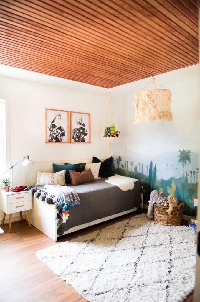 Diy Modern Wood Ceiling In 2020 Home Decor Home Diy Wood Ceilings