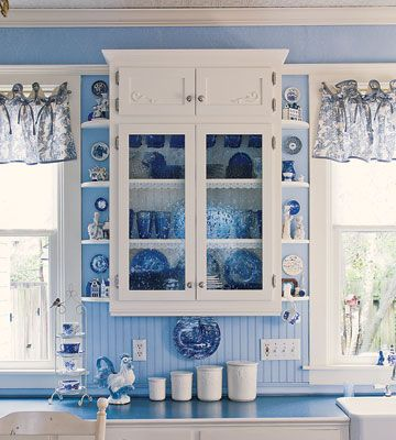 Captivating I Love Blue White. Blue Beadboard And White Cabinets. Needs A Couple Of  Corbels.