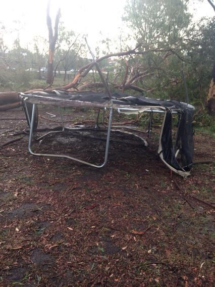 There appears to be a trampoline in felburg park yeronga #storm #wow