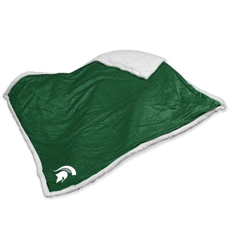 Michigan State Spartans Sherpa Blanket, Multicolor