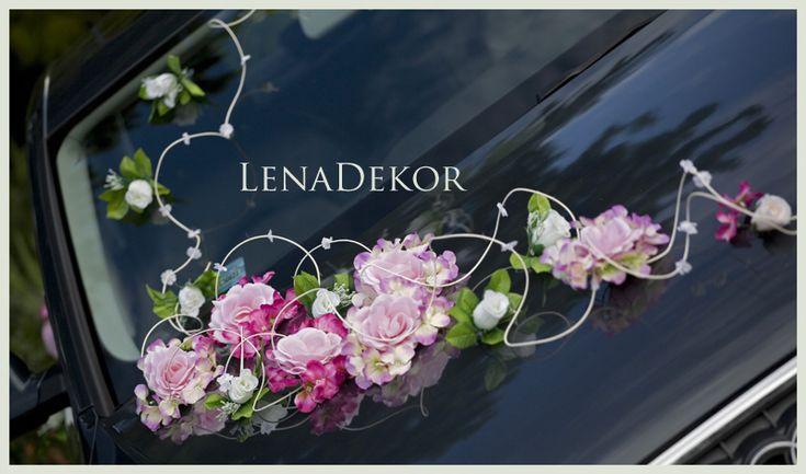 Dekoracja samochodu/ wedding car decoration by LenaDekor.pl