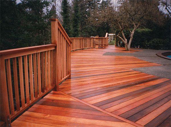 Stained cedar deck color deck pinterest coloring for Color ideas for decks