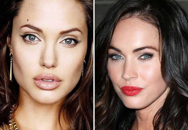 """Un artista creo rostros """"perfectos"""" al combinar fotografías de diferentes celebridades"""