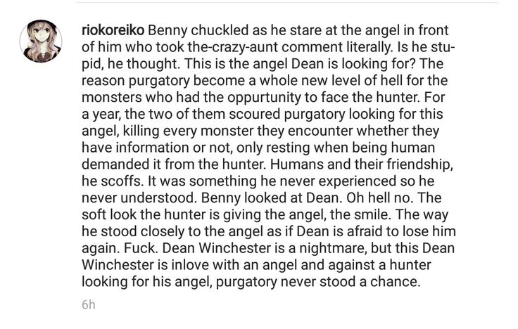 From Benny's POV. #destiel #supernatural