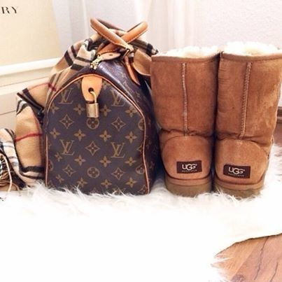 Louis vuitton speedy bag & uggs