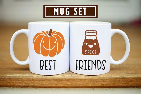 Pumpkin Spice Best Friend Mug Best Friend Mugs Fall Bff by Mugsby
