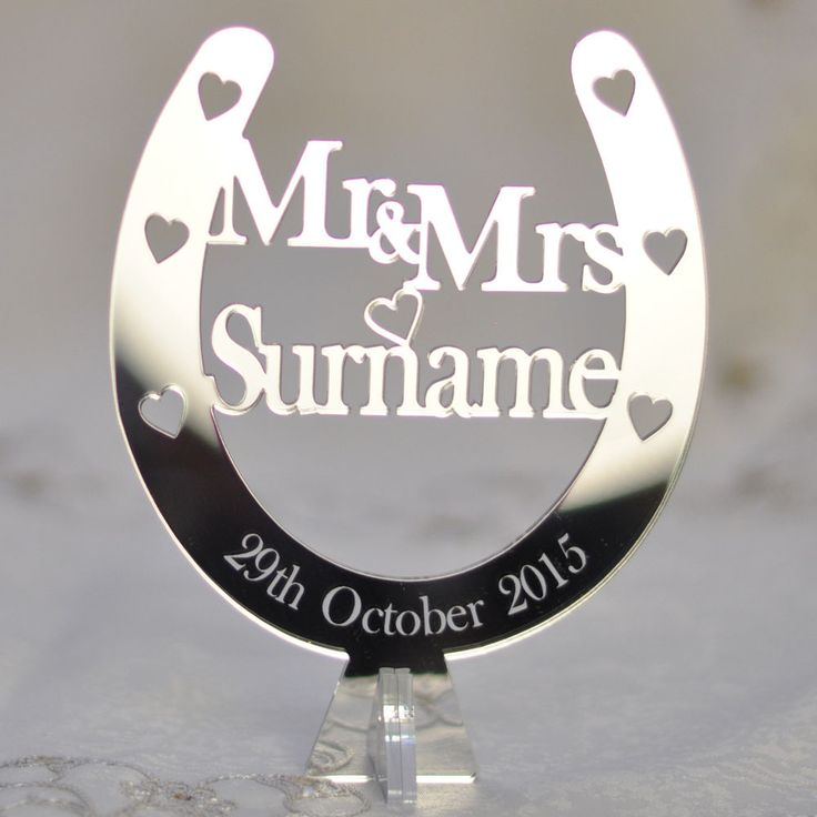 Details About Personalised Free Standing Wedding Mr Amp Mrs Horseshoe
