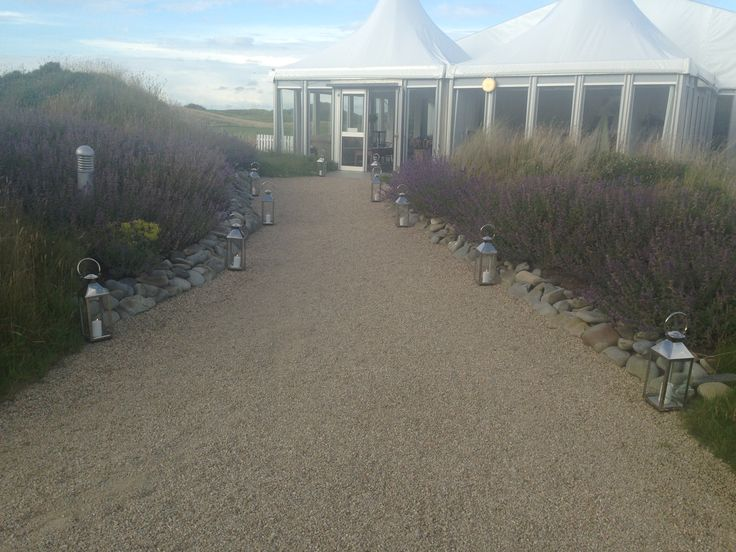 A lantern lit entrance to an Anniversary Party in Trump International Doonbeg. Visit www.gotchacovered.ie for information.