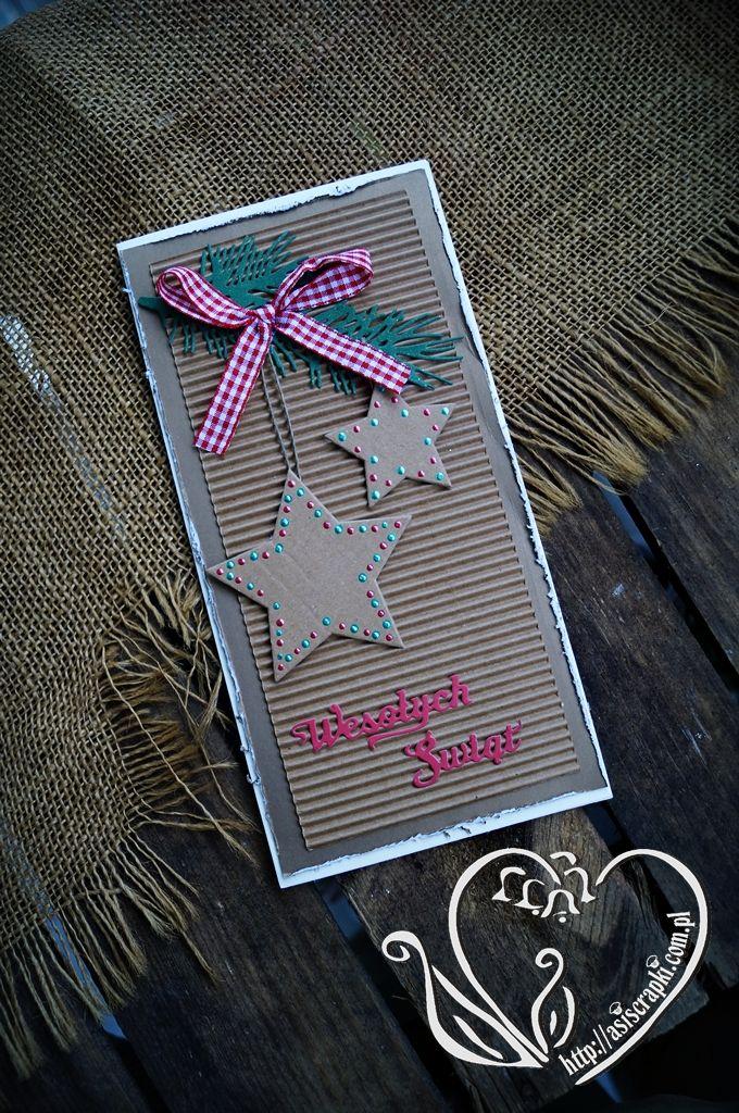 Kartki świąteczne z pierniczkiem #asiscrapki