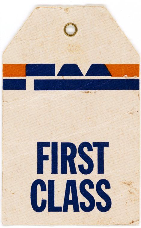 TAA First Class luggage tag, 1980s. #taa #firstclass #luggage #australia #1980s #tag