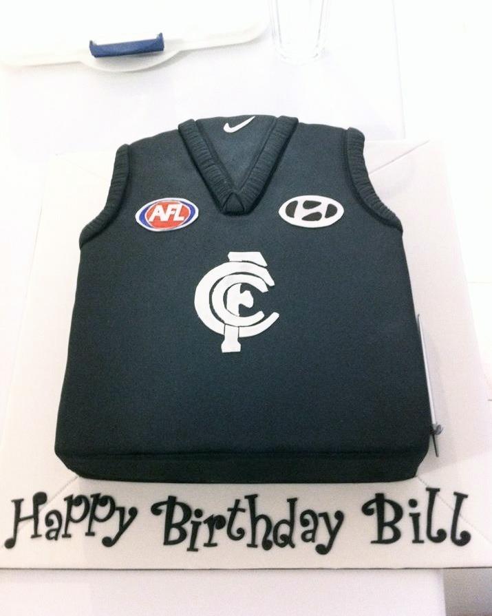 Carlton Football Jersey cake