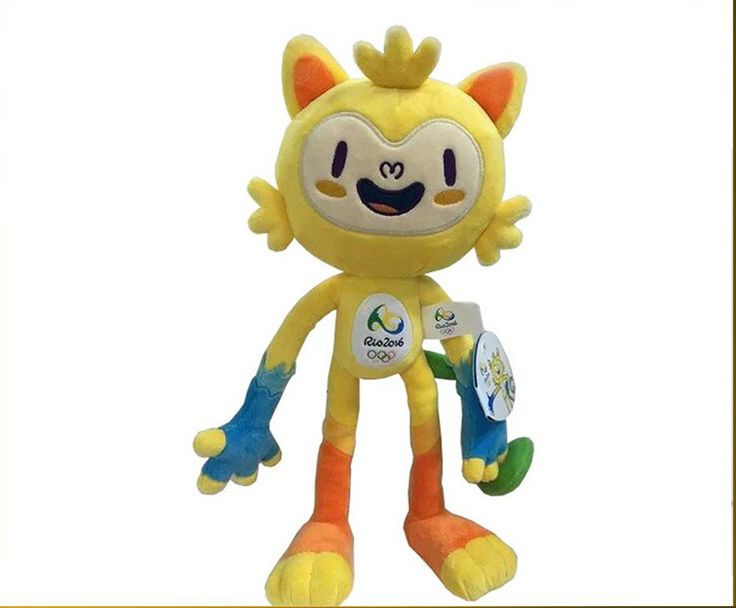 """2016 Year The Rio Olympics Mascot Doll,Vinicius and Tom Plush toys,stuffed plush toy for kids"""