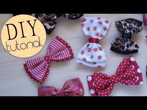 ▶ DIY: Como hacer Lazos Dobles Perfectos - FÁCIL ✂ Perfect Double Bow - EASY ✂ - YouTube